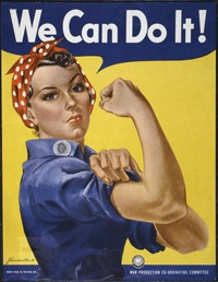 """Rosie the Riveter""""We Can Do It""179-WP-1563WWII Poster"