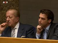 Hiddema en Baudet in het parlement